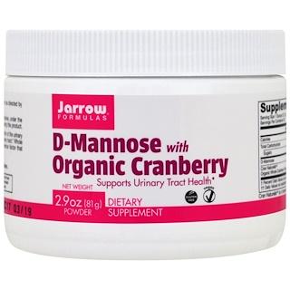 Jarrow Formulas, D-манноза с органической клюквой, 81 7 (2,9 унций)