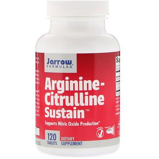 Jarrow Formulas, Arginina-Citrulina Sustentável, 120 Comprimidos