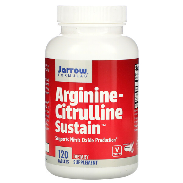 Jarrow Formulas, Arginine-Citrulline Sustain, 120 Tablets