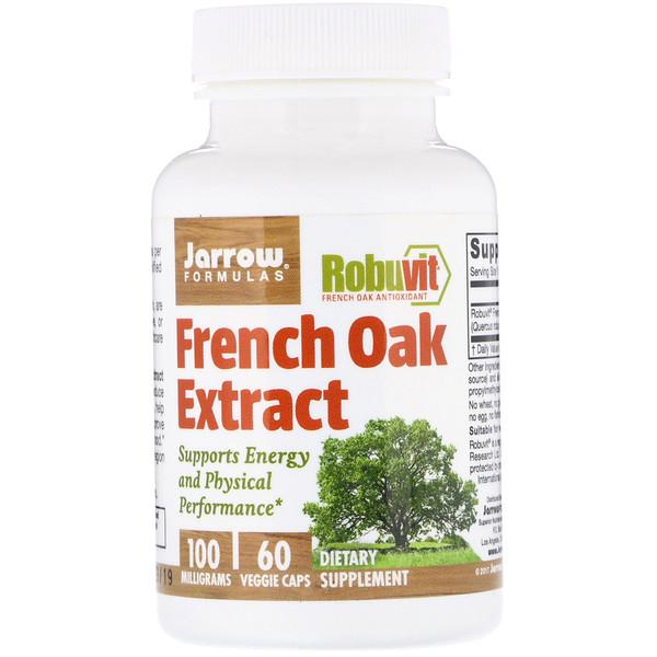 Jarrow Formulas, Extrait de chêne français, 100 mg, 60 gélules végétales (Discontinued Item)
