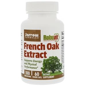 Jarrow Formulas, Экстракт французского дуба, 100 мг, 60 вегетарианских капсул