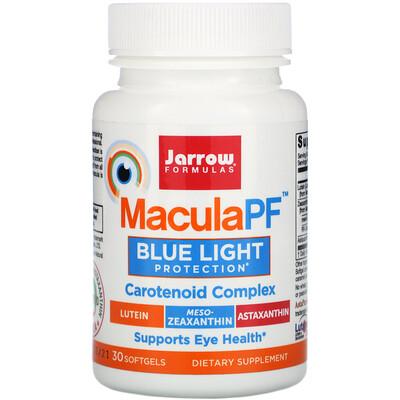 Купить Jarrow Formulas MaculaPF, защита от синего света, 30 мягких желатиновых капсул