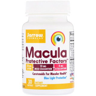 Jarrow Formulas, Macula Protective Factors, 30 Softgels