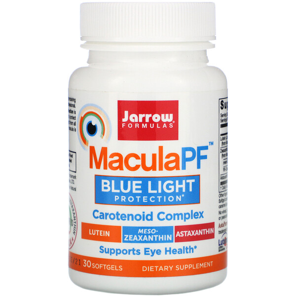Jarrow Formulas, MaculaPF, Blue Light Protection, 30 Softgels