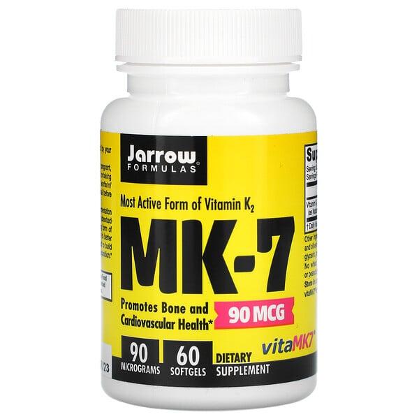 MK-7, 90mcg, 60cápsulas blandas
