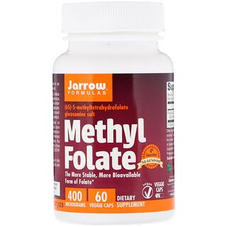 Jarrow Formulas, Folate de méthyle, 400 mcg, 60 gélules de légumes