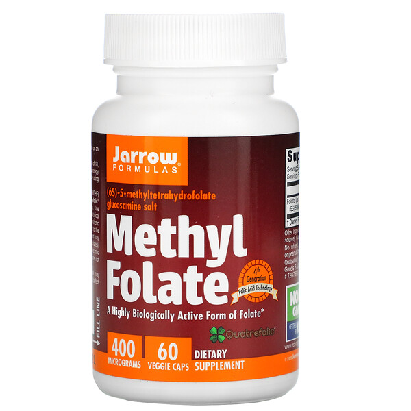 Methyl Folate, 400 mcg, 60 Veggie Caps