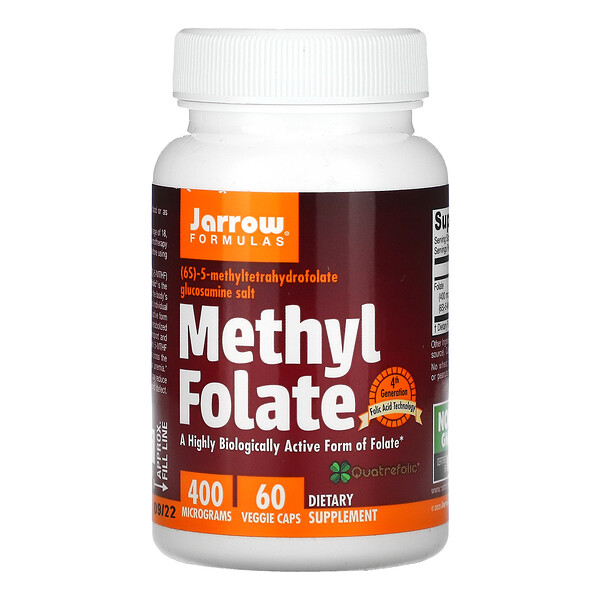 Methyl Folate, 400mcg, 베지 캡슐 60정