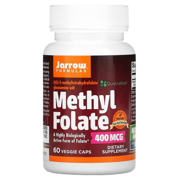 Methyl Folate, 400 mcg, 60 Veggie Caps