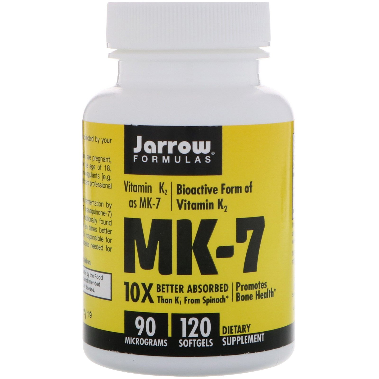 Jarrow Formulas, MK-7, 90 mcg, 120 Softgels