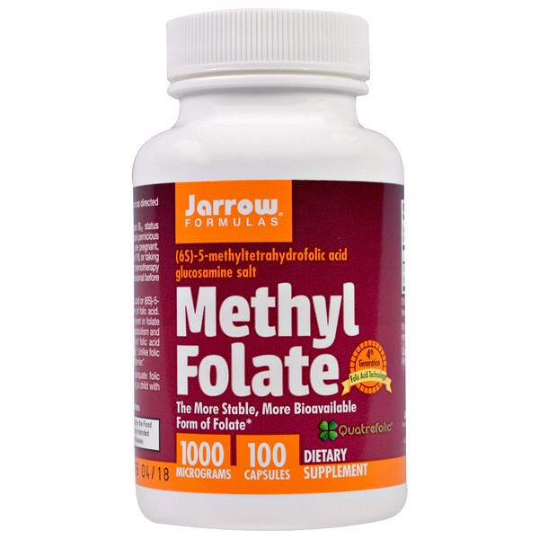 Jarrow Formulas, Methyl Folate, 1000 mcg, 100 Capsules