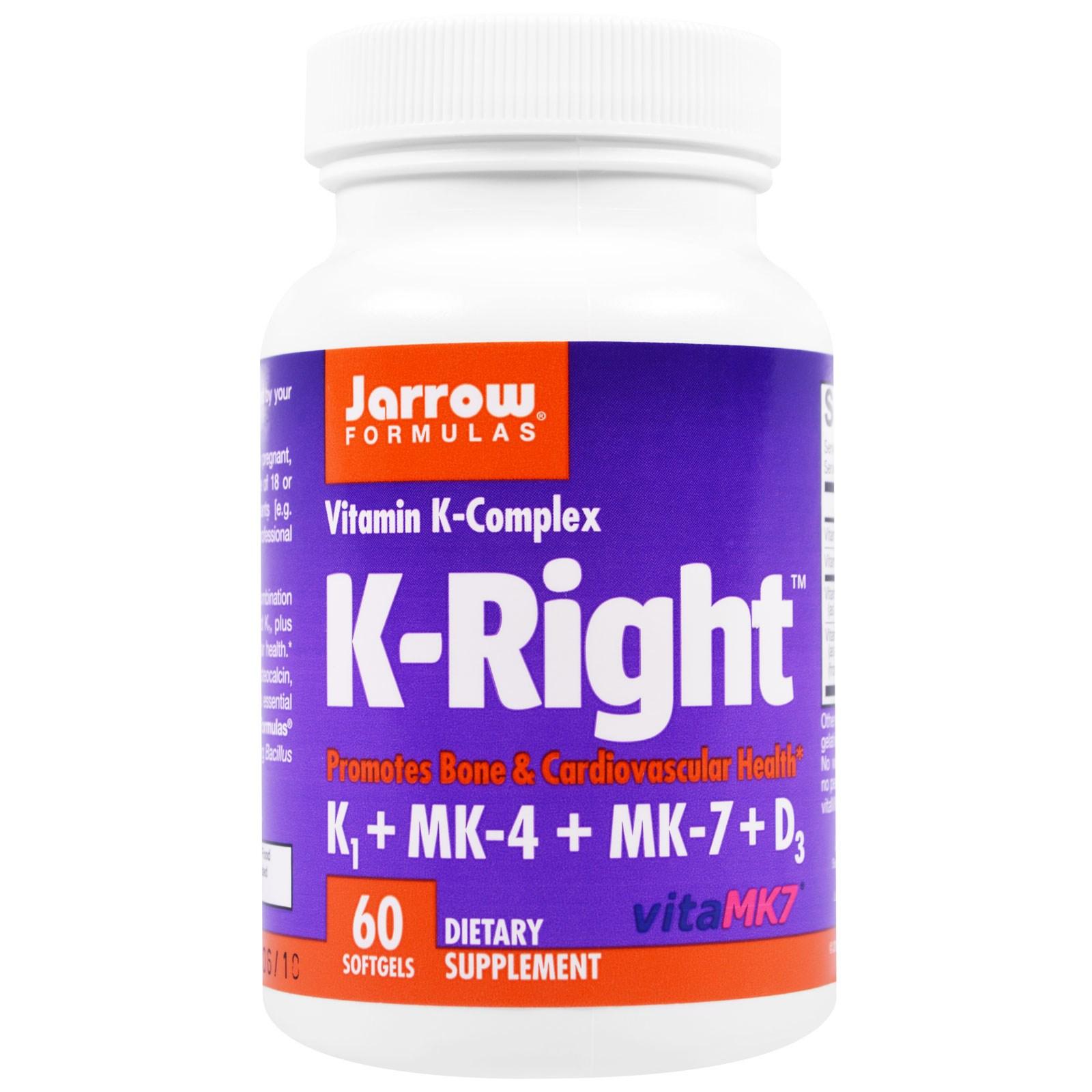Jarrow Formulas, K-Right, 60 мягких капсул
