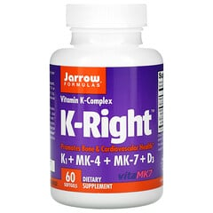 Jarrow Formulas, K-Right,60 粒軟凝膠