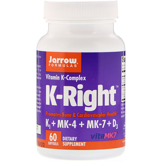 Jarrow Formulas, K-Right, Vitamin K Complex, 60 Softgels
