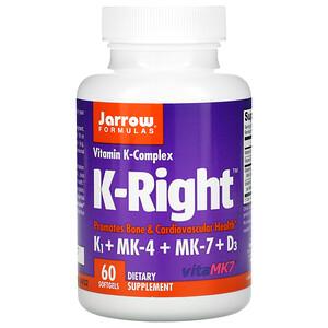джэрроу формулас, K-Right, Vitamin K Complex, 60 Softgels отзывы