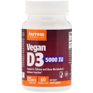 джэрроу формулас, Vegan D3, 125 mcg (5,000 IU), 60 Veggie Caps отзывы