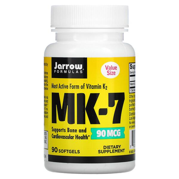 MK-7, 90 mcg, 90 Softgels