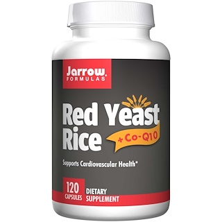 Jarrow Formulas, Red Yeast Rice + Co-Q10, 120 Capsules