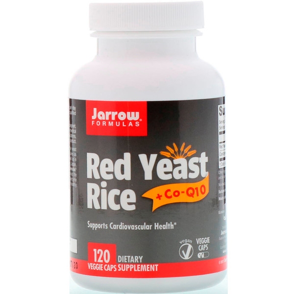 Jarrow Formulas, Red Yeast Rice + Co-Q10, 120 Veggie Caps