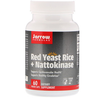 Jarrow Formulas, Red Yeast Rice + Nattokinase, 60 Veggie Caps
