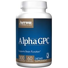 Jarrow Formulas, アルファGPC、300mg、植物性カプセル60個