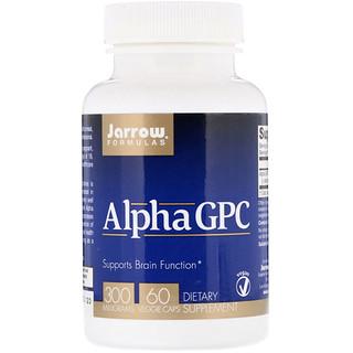 Jarrow Formulas, アルファGPC、300mg、植物性カプセル60粒