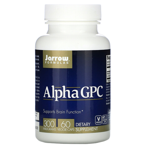 Jarrow Formulas, Alpha GPC, 300mg, 베지 캡슐 60정