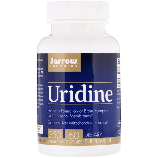 Jarrow Formulas, Uridine, 250 mg, 60 cápsulas
