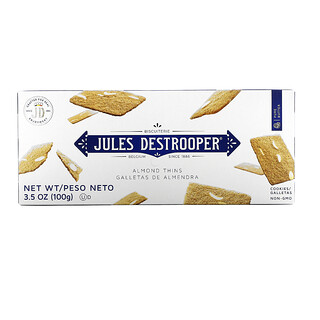 Jules Destrooper, Almond Thins Cookies, 3.5 oz (100 g)