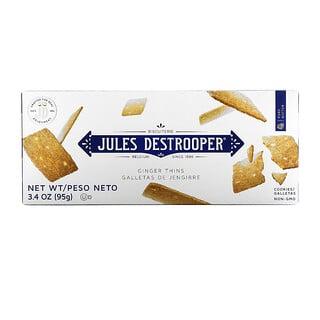 Jules Destrooper, Ginger Thins Cookies, 3.4 oz (95 g)