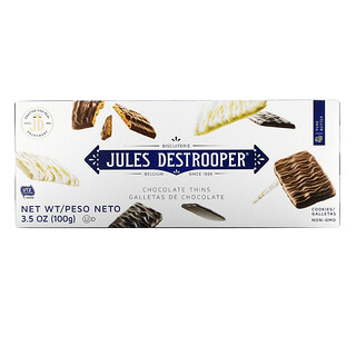 Jules Destrooper, Chocolate Thins Cookies, 3.5 oz (100 g)