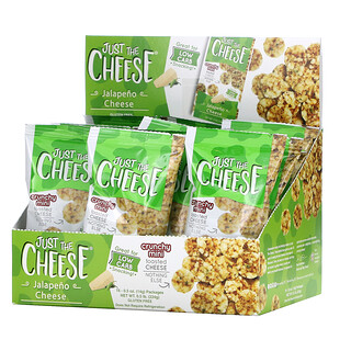 Just The Cheese, Crunchy Mini Toasted Cheese, Jalapeno Cheese, 16 Packages, 0.5 oz (14 g) Each