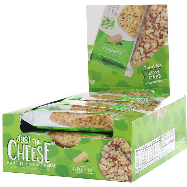 Just The Cheese, Jalapeno Bars, 12 Bars, 0.8 oz (22 g)