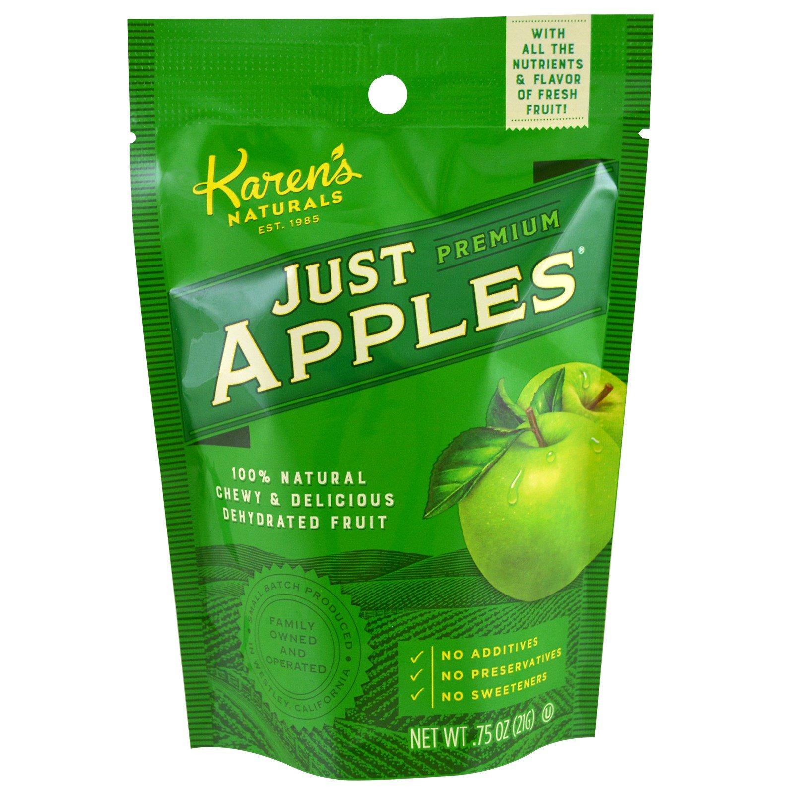 Karen's Naturals, Премиум-класса, просто яблоки, 0,75 унции (21 г)