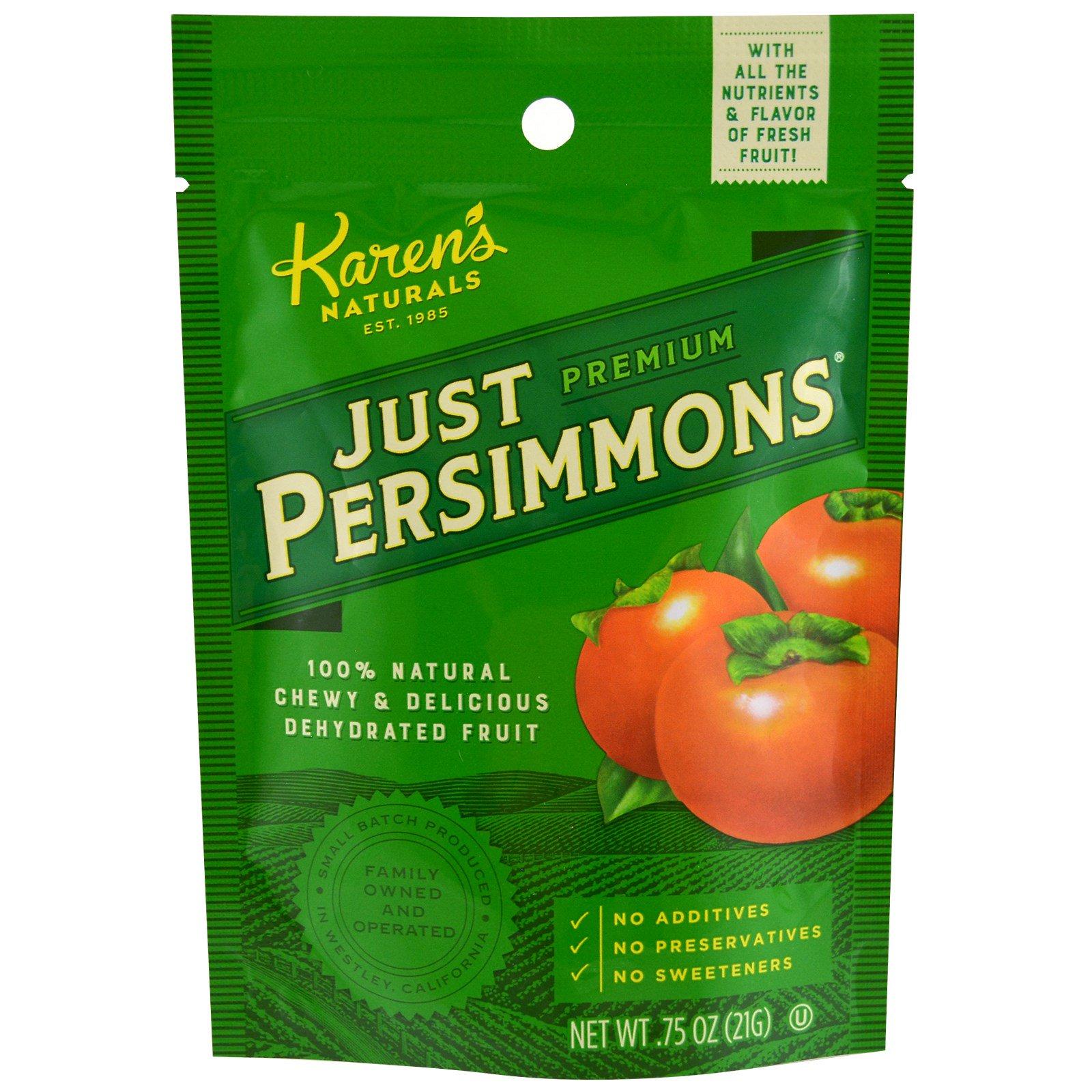 Karen's Naturals, Премиум-класса, просто хурма, 0,75 унции (21 г)