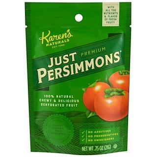Karen's Naturals, Premium, Just Persimmons, .75 oz (21 g)