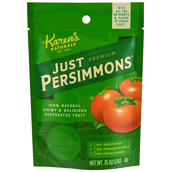 Karen's Naturals, Premium, Just Persimmons, .75 oz (21 g) (Discontinued Item)