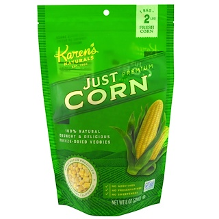 Karen's Naturals, Premium Freeze-Dried Veggies, Just Corn, 8 oz (224 g)