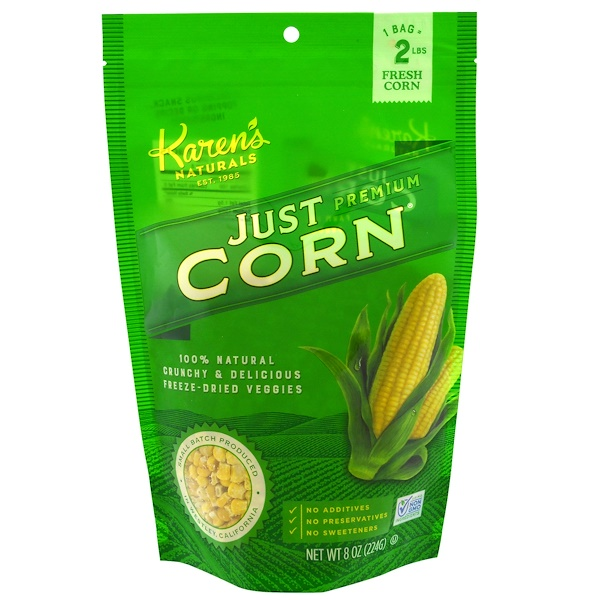 Premium Freeze-Dried Veggies, Just Corn, 8 oz (224 g)