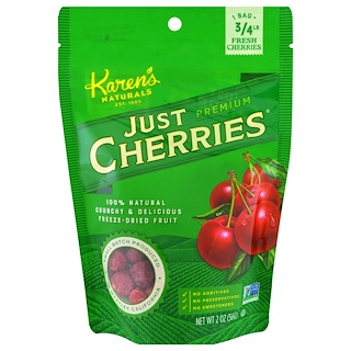 Karen's Naturals, Just Premium Cherries, 2 oz (56 g)