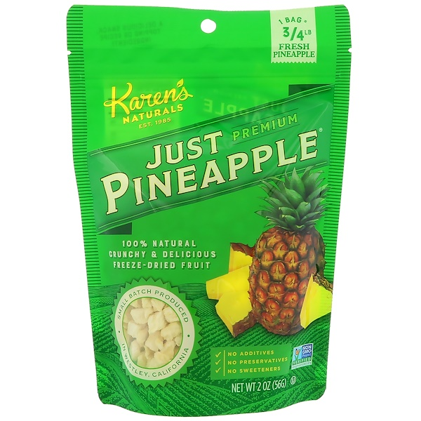 Karen's Naturals, Just Pineapple, 2 oz (56 g)