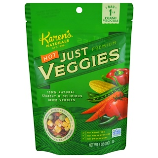 Karen's Naturals, Hot Just Premium Veggies, 3 oz (84 g)