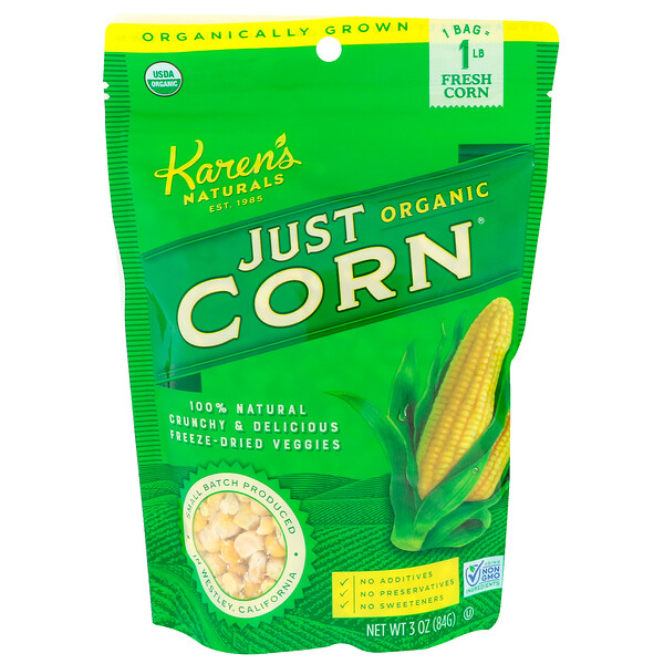 Organic Just Corn, 3 oz (84 g)