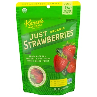 Karen's Naturals, Organic Just Strawberries, 1.2 oz (34 g)