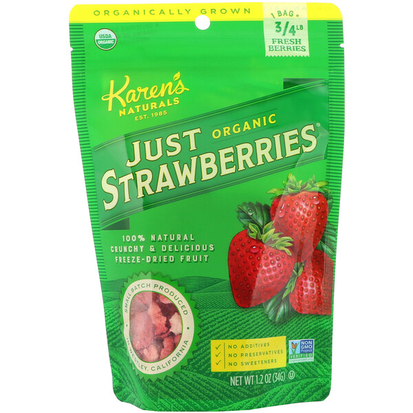 Organic Just Strawberries, 1.2 oz (34 g)