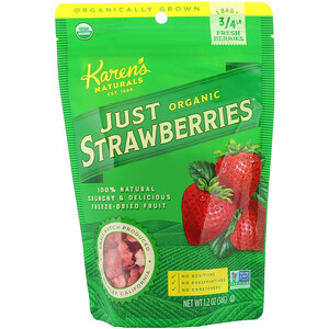 Карэнс Нэчуралс, Organic Just Strawberries, 1.2 oz (34 g) отзывы покупателей