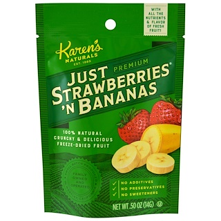 Karen's Naturals, Premium, Just Strawberries 'N Bananas, .50 oz (14 g)
