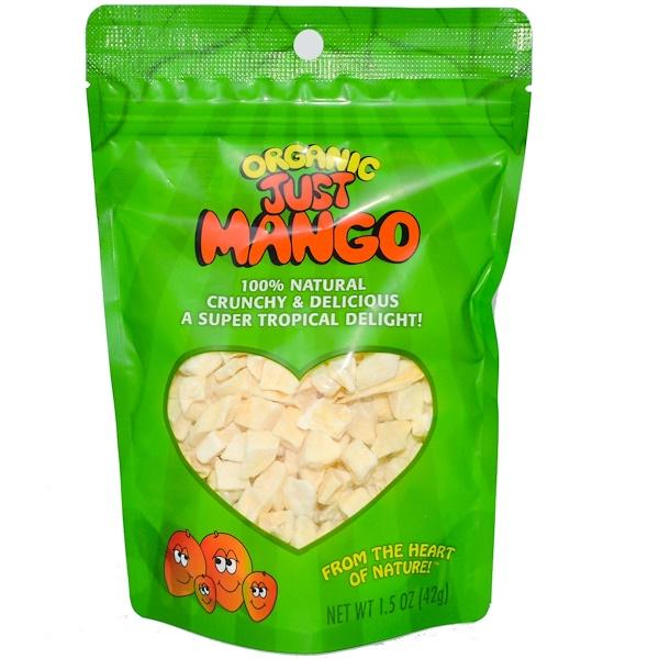 Karen's Naturals, Органическое манго сушеное Just Mango, закрывающаяся упаковка, 1,5 унции (42 г)
