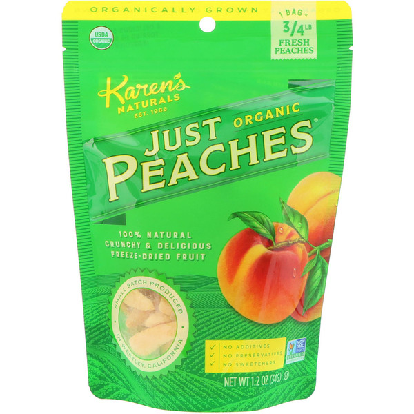 Karen's Naturals, Organic Just Peaches, 1.2 oz (34 g) (Discontinued Item)