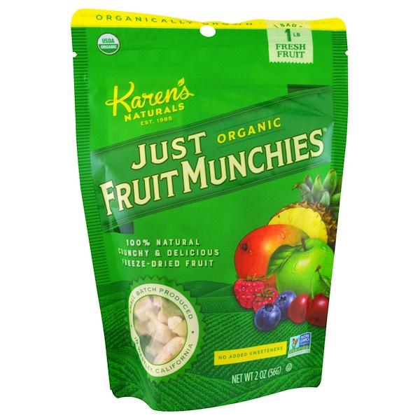Karen's Naturals, Just Organic Fruit Munchies, 2 oz (56 g) (Discontinued Item)